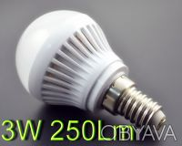 Светодиодная лампа E14 220 вольт 3W 250Lm. Киев. фото 1