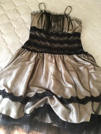 Вечернее атласно -кружевное платье размер46 в хорошем состоянии один раз одето б. Дрогобыч, Львовская область. фото 6