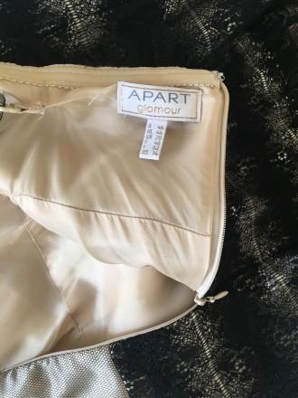 Вечернее атласно -кружевное платье размер46 в хорошем состоянии один раз одето б. Дрогобыч, Львовская область. фото 5