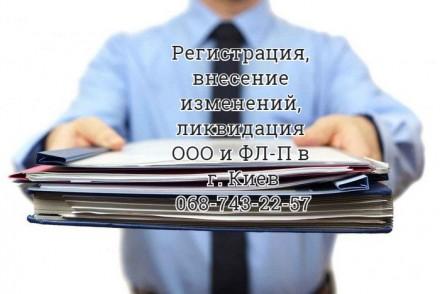 Регистрация, внесение изменений, ликвидация ООО (ТОВ) и ФЛ-П (ФО-П). Киев. фото 1