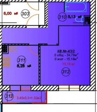 Прямая продажа 1-к квартиры. Одесса. фото 1