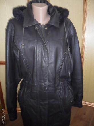 c1a72c9cd0b ᐈ Куртка женская кожаная с капюшоном турция б у цвет синий баклажан ...