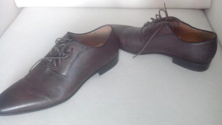 Продам Туфли ALDO 42, коричневые кожа, (аутлет), оксфорды, передняя часть как де. Киев, Киевская область. фото 3