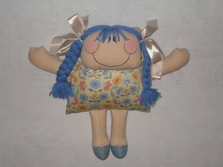 Мягкая кукла из текстиля ручной работы. Бердянск. фото 1