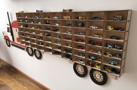 Hot wheels, полка для машинок, модельки, полочка, грузовик, коллекция. Одесса. фото 1