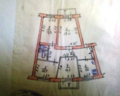 продам 4-х комн. кв-ру ул. планировки 4 этаж 5-ти этажного кирпичного дома в цен. Чернигов, Черниговская область. фото 13