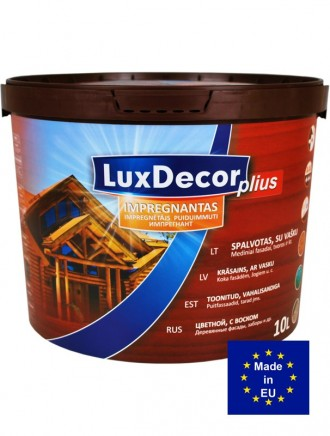 РОЗПРОДАЖ Пропитка для дерева LuxDecor Plius 10 Фарба, краска 10 л.. Тернополь. фото 1
