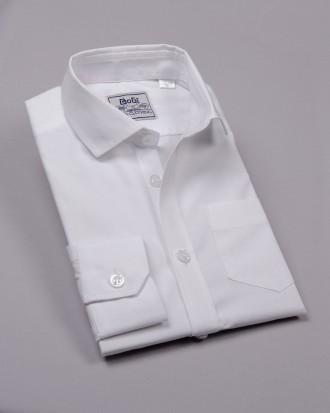 BoGi.  Сорочка для хлопчика шкільна біла, короткий та довгий рукав. Полтава. фото 1