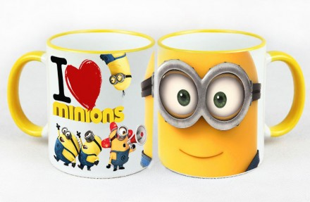 Миньоны Самая позитивная чашка. Киев. фото 1