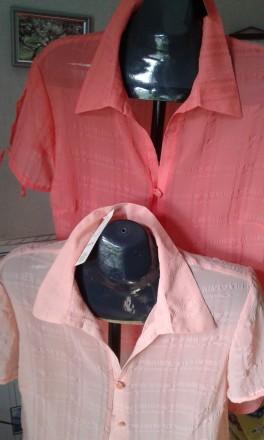 блуза рубашка шифоновая р 50 (Украина)-стильно модно оригинально. Запорожье. фото 1
