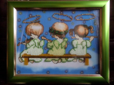 Картина бисером ручной работы