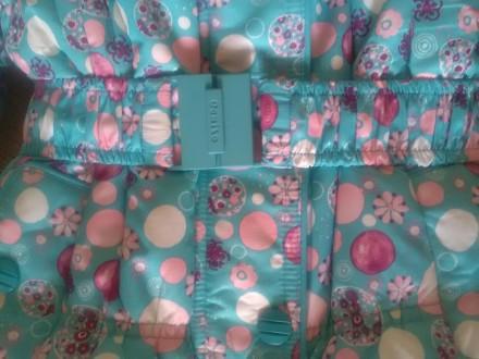 Красивый зимний комбинезон для девочки Donilo р 86+6. Цвет бирюзовый. Смотрится . Мариуполь, Донецкая область. фото 9