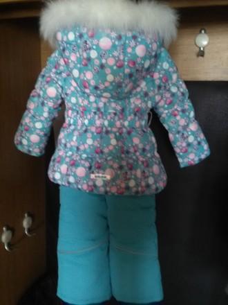 Красивый зимний комбинезон для девочки Donilo р 86+6. Цвет бирюзовый. Смотрится . Мариуполь, Донецкая область. фото 3