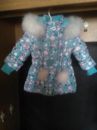 Красивый зимний комбинезон для девочки Donilo р 86+6. Цвет бирюзовый. Смотрится . Мариуполь, Донецкая область. фото 5