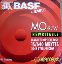 Оптика (basf magneto optical disk) 640mb. Чернигов. фото 1