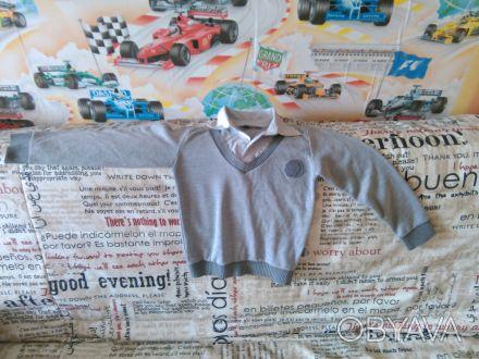Продам обманку (свитер с рубашкой) на мальчика 1-2 класса (рост 128 см) в хороше. Чернігів, Чернігівська область. фото 1