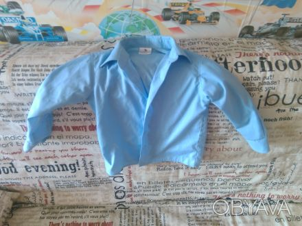 Рубашка для мальчика 3-5 лет, синяя, состояние отличное.. Чернігів, Чернігівська область. фото 1