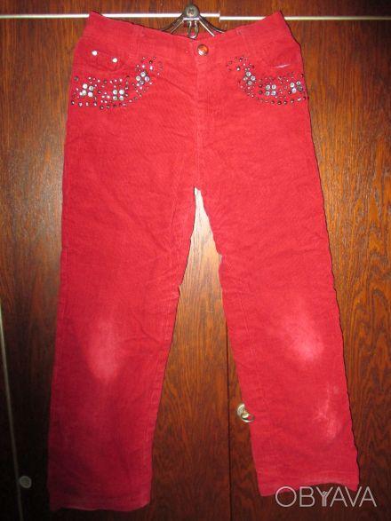 брюки на девочку 7-9 лет ,на теплой подкладке.длина-76см.ширина в свободном сост. Суми, Сумська область. фото 1