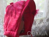 шапка на девочку 3-4 года ,теплая,в хорошем состоянии.ширина от уха до уха 33см,. Сумы, Сумская область. фото 3