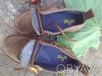 Ботинки натуральная замша шоколадного цвета'внутри--- полностью серая кожа'даже . Чернигов, Черниговская область. фото 4