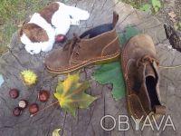 Ботинки натуральная замша шоколадного цвета'внутри--- полностью серая кожа'даже . Чернигов, Черниговская область. фото 8