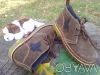 Ботинки натуральная замша шоколадного цвета'внутри--- полностью серая кожа'даже . Чернигов, Черниговская область. фото 9