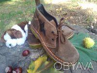 Ботинки натуральная замша шоколадного цвета'внутри--- полностью серая кожа'даже . Чернигов, Черниговская область. фото 3