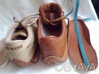 Кроссовки бежевые и шоколадные' фирменные NO NAME ' полностью кожаный верх и вну. Чернигов, Черниговская область. фото 10