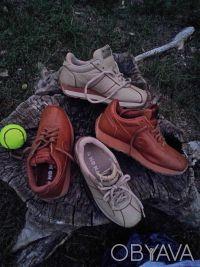 Кроссовки бежевые и шоколадные' фирменные NO NAME ' полностью кожаный верх и вну. Чернигов, Черниговская область. фото 4