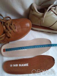 Кроссовки бежевые и шоколадные' фирменные NO NAME ' полностью кожаный верх и вну. Чернигов, Черниговская область. фото 7