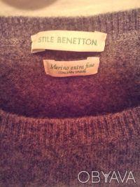 Свитер фирменный BENETTON, классическая модель для базового гардероба на холода.. Чернигов, Черниговская область. фото 4