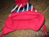теплая шапка на ребенка 2-3 года,можно носить и зимой.  окружность шапки 46см. Суми, Сумська область. фото 3
