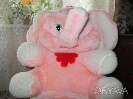 мягкая игрушка в хорошем состоянии,высота слона 47см. Суми, Сумська область. фото 1