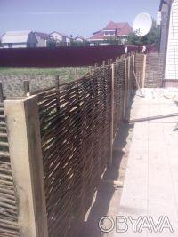 Производим плетеный забор из лозы. Материал - лещина, орешник. Забор производим . Чернигов, Черниговская область. фото 6