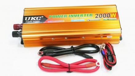 Преобразователь авто инвертор UKC 12V-220V 2000W Gold Прибор предназначен для п. Чернигов, Черниговская область. фото 4