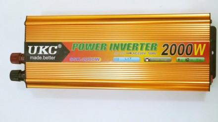 Преобразователь авто инвертор UKC 12V-220V 2000W Gold Прибор предназначен для п. Чернигов, Черниговская область. фото 2