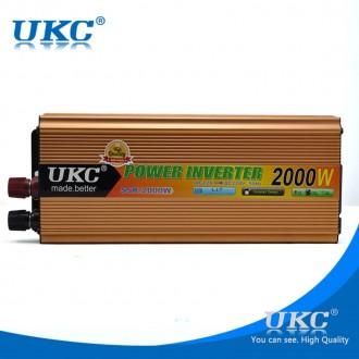 Преобразователь авто инвертор UKC 12V-220V 2000W Gold Прибор предназначен для п. Чернигов, Черниговская область. фото 5