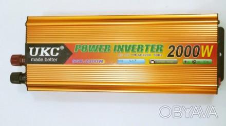 Преобразователь авто инвертор UKC 12V-220V 2000W Gold Прибор предназначен для п. Чернигов, Черниговская область. фото 1