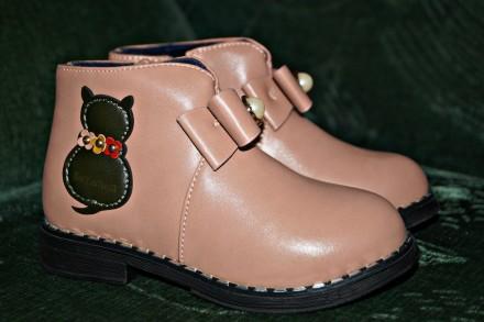 Очаровательные демисезонные ботинки. Кропивницький. фото 1
