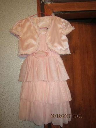 Платье детское+болеро новое!!!. Житомир. фото 1