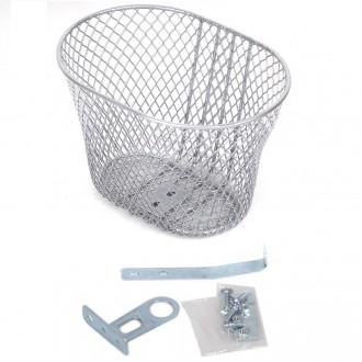 Кошик велосипедний Basket сріблястий. Бровары. фото 1