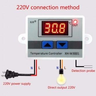 Терморегулятор XH-W1209WK с диапазоном регулировки температуры от -50 до 110 °С.. Энергодар, Запорожская область. фото 5