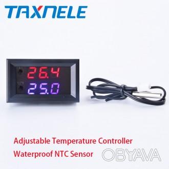 Терморегулятор XH-W1209WK с диапазоном регулировки температуры от -50 до 110 °С.. Энергодар, Запорожская область. фото 1