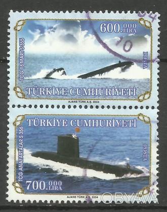 Марки Турции 2 шт (сцепка) Submarines 2004 г ( гашеные)  50 грн. Киев, Киевская область. фото 1