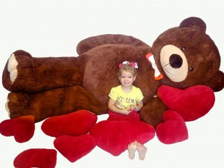 Плюшевый мишка медведь мягкая игрушка Teddy bear 250 см ТРИ ЦВЕТА. Киев. фото 1