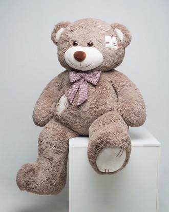 Плюшевый мишка c латками медведь мягкая игрушка 150 см ДВА цвета. Киев. фото 1