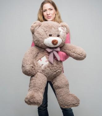 Плюшевый мишка c латками медведь мягкая игрушка 100 см ДВА цвета. Киев. фото 1