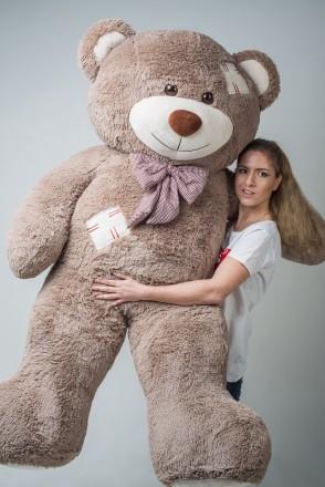 Плюшевый мишка c латками медведь мягкая игрушка 200 см ДВА цвета. Киев. фото 1