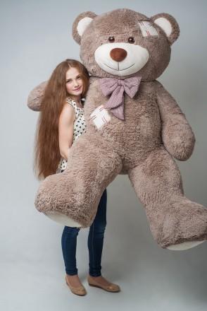 Плюшевый мишка мягкая игрушка медведь c латками 200 см ДВА цвета. Киев. фото 1