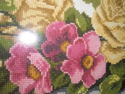 Картина Розы,выполнена алмазной техникой.Прекрасный подарок,украшение гостиной. Киево-Святошинский, Киевская область. фото 5